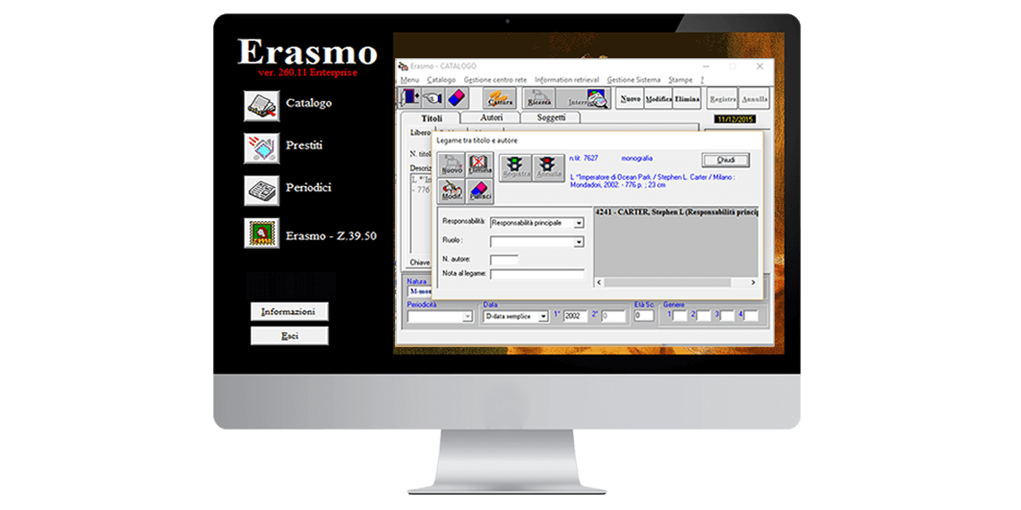 Erasmo Enterprise - Legame titolo autore